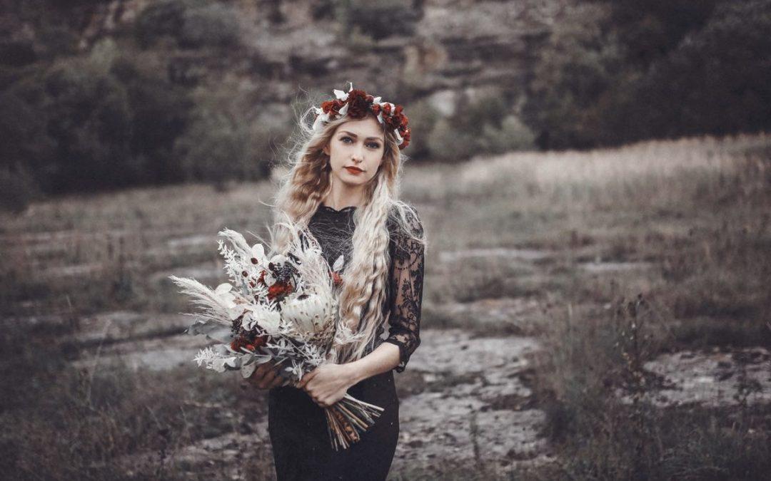 Romantic Black – Eine romantische Bridalstyle Inspiration voller Kontraste