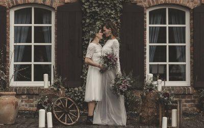 Rustic Chic – Inspiration einer rustikalen Hochzeit mit zwei Bräuten