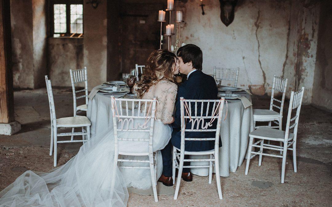 Glamorous Castle – Eine Hochzeitsinspiration in dirty white & rose gold!