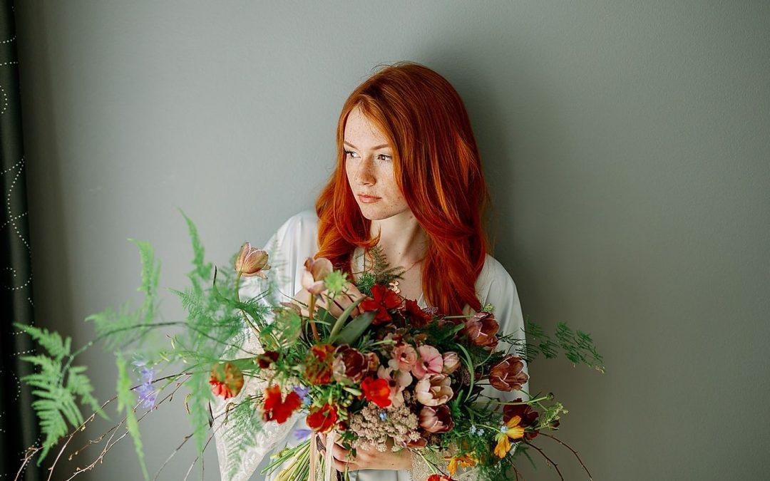 Ginger Beauty – Ein kontrastreiches Fine Art Bridal Editorial