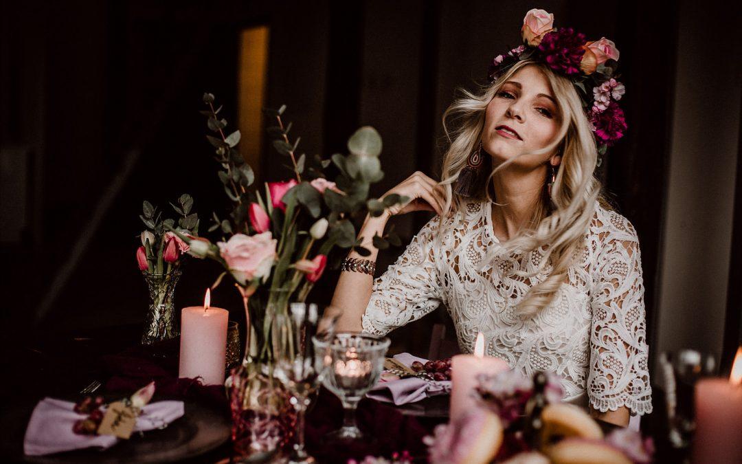 Less can be more! – Eine rustikale Hochzeitsinspiration in Blush- & Pinktönen