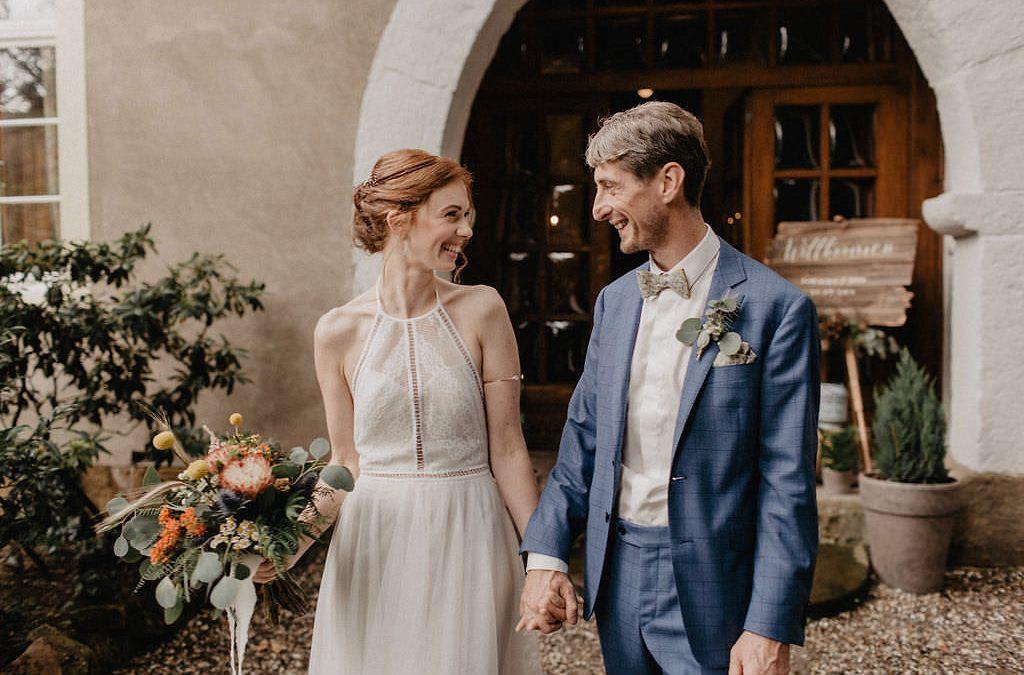 Dominique & Sven – Eine bohoinspirierte Gartenhochzeit