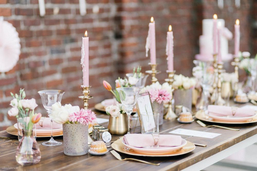 Aquarell & Pastell – Ein Hochzeitskonzept in Pastell Rosa und Gold