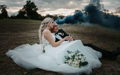 Yvonne & Fabian – Eine kirchliche Hochzeit im modernen Greenery Stil