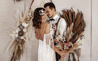 Everlasting Love – Eine wunderschöne bohemian Hochzeitsinspiration voller Trockenblumen
