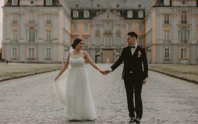 Nicola & Dustin – Eine kirchliche Hochzeit im modernen Romantiklook