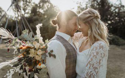 Tipi Wedding – Inspiration einer intimen Bohohochzeit im Freien