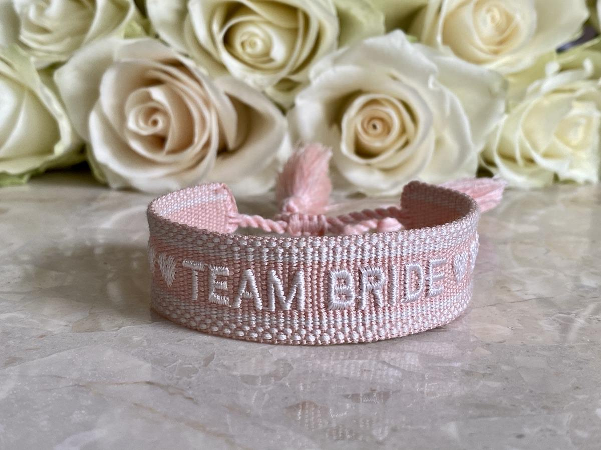 Team Bride, Armband Trauzeuginn, Brautjungfer Armband
