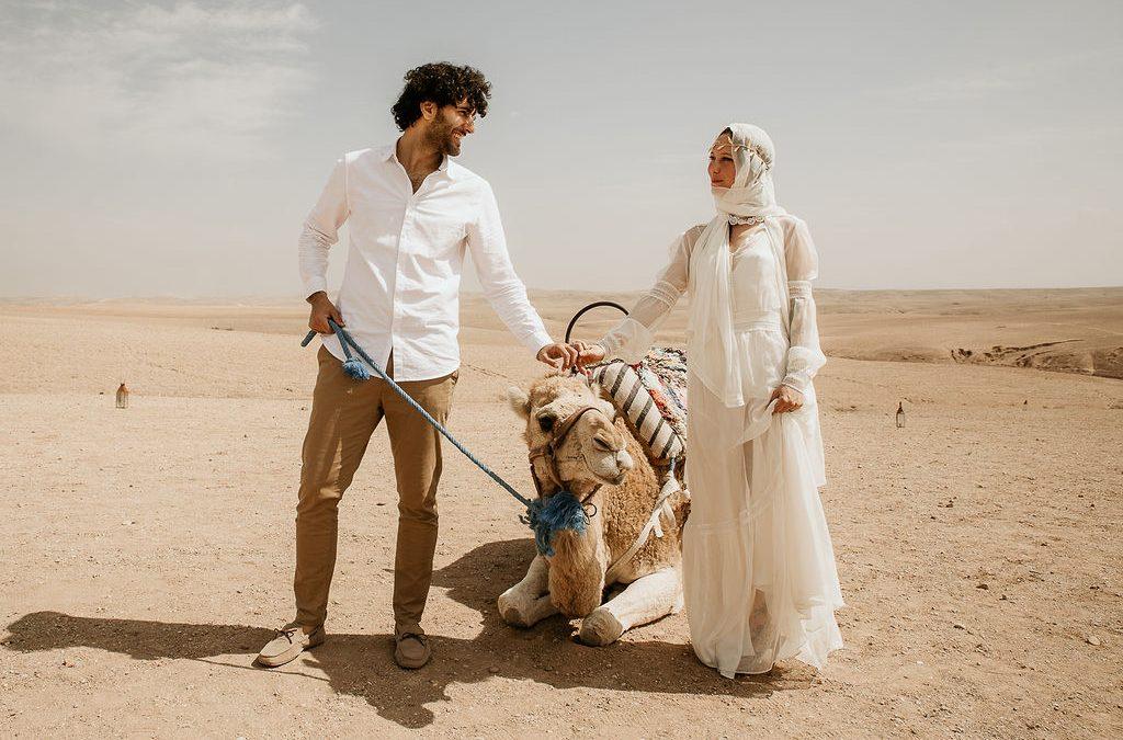 Eine romantische Elopement Wedding in der Wüste Marrakeschs