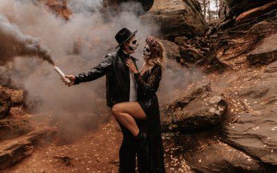Desert Halloween Wedding – Inspiration einer spooky Halloween-Hochzeit im Bohostil