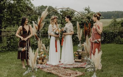 Boho Chic meets Green Wedding – Inspiration einer Outdoor Bohohochzeit mit Nachhaltigkeit
