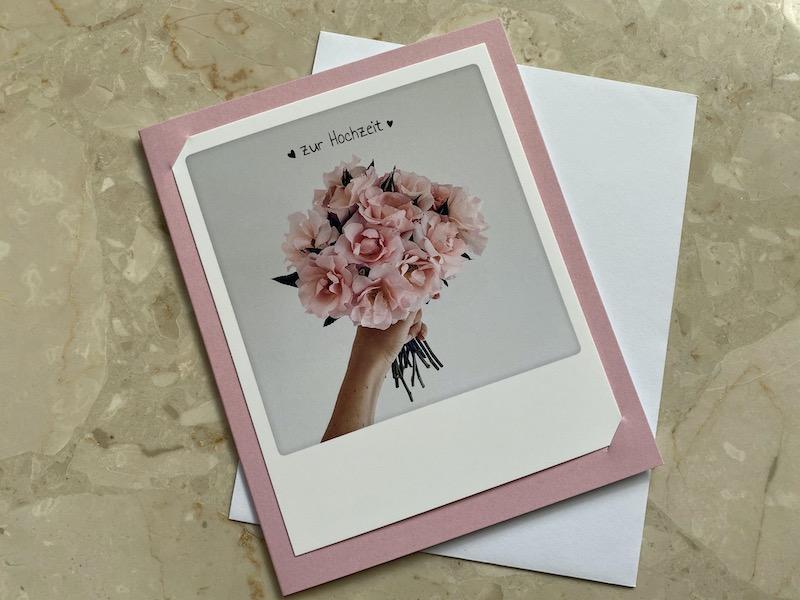 Postkarte, Glückwunschkarte, Hochzeit, Pickmotion, Photo Klappkarte