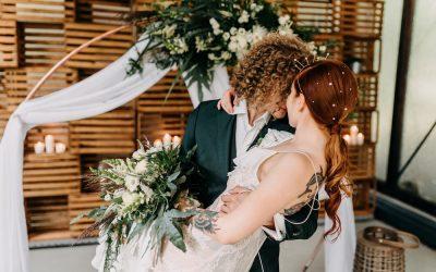 Marry & Bright – Eine Inspiration für Winterhochzeiten in Weiß, Gold & Grün