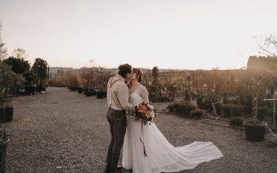 Glasshouse Wedding – Eine bohoinspirierte Hochzeit im Gewächshaus einer Baumschule