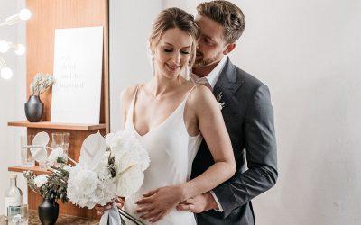 Modern Monochromatic – Ein modernes Hochzeitskonzept in Schwarz-Weiß Monochrom