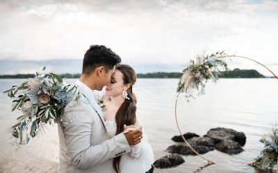 Bavarian Ocean – Eine mediterrane Hochzeit am Chiemsee in zarten Blau- und Grüntönen