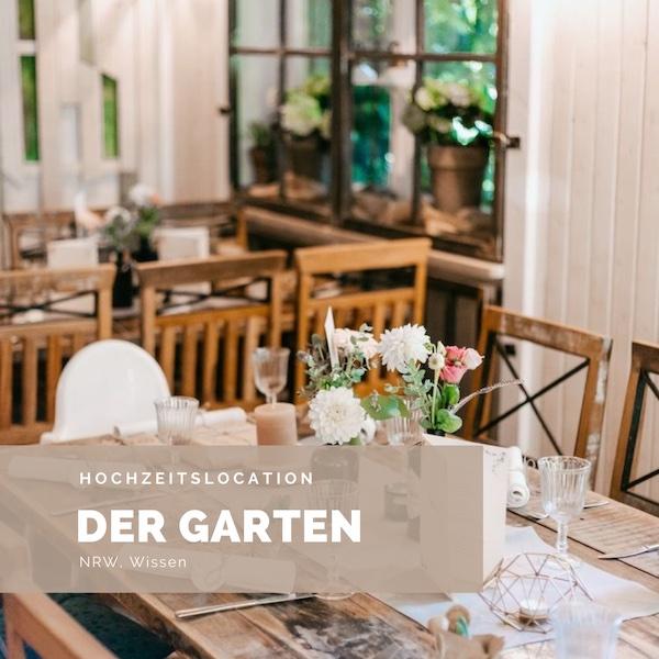 Der Garten, Hochzeitslocation NRW, Rustikale Hochzeitslocation, Trauung unter freiem Himmel