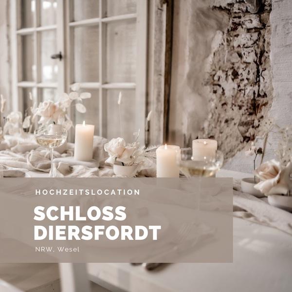 Schloss Diersfordt, Hochzeitslocation NRW, Wesel, Bohohochzeit Location
