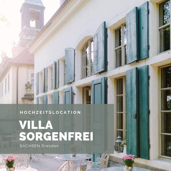 Villa Sorgenfrei Hochzeitslocation Dresden, Schlosshochzeit, Sachsen