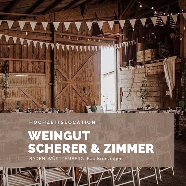 Bio Weingut Scherer & Zimmer, Scheunenhochzeit, Hochzeitslocation, Baden-Württemberg