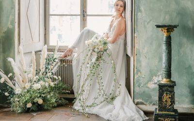 Fine Green l'amour – Eine elegante Greenery Sommerhochzeit in einem französischen Château