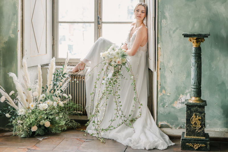 Greenery Hochzeit, Französische Hochzeit, Sommerhochzeit, Chalet de Froeschwiller
