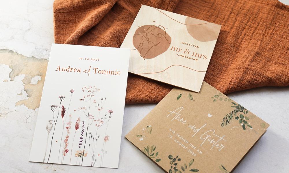 Pretty Orange, Hochzeitspapeterie, Hochzeitseinladungen, Trends
