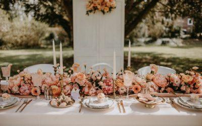 Apricot Rose – Ein Vintage angehauchtes Hochzeitskonzept in zartem Apricot und Rose