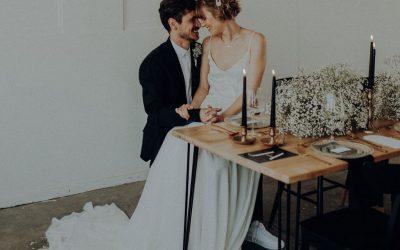 Simple industrial elegance – Eine Industrial Hochzeit neu interpretiert im eleganten Look